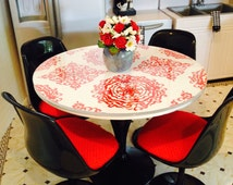 """Dollhouse Furniture - 1:6 scale Red/Black/White Miniature Kitchen Table for 11 1/2""""-16"""" Fashion Dolls"""