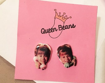 Mary Kate & Ashley Olsen Phone Stud Earrings