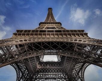 Paris France Eiffel Tower Art Photography Print Wall Decor