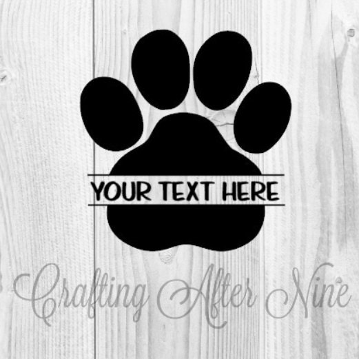 Paw Print Svg Cut Files Seperated Paw Print Svg Screen