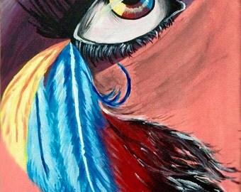 "100% original ART Acrylic PAINTING Artist MS Modern Contemporary canvas 9""x12"""