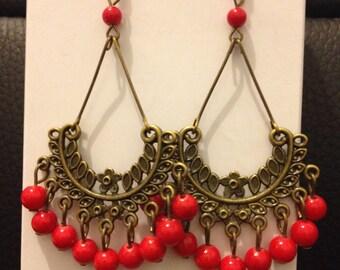 Vintage Chinese Style longline earrings