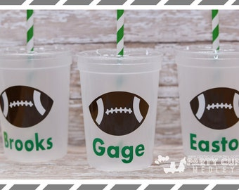 Football Birthday Party- Birthday Party-Sports Party Favor Cups-Personalized Cups
