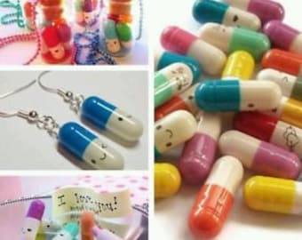 Pills Kawaii emoticons (30 pieces)