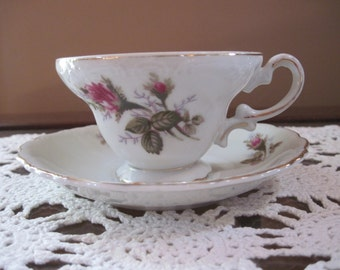 Royal Sealy Moss Rose Tea Cup - Item #1328