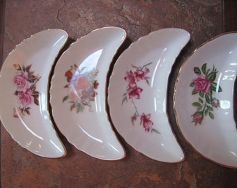 Set of 10 Bone Dishes Floral Patterns CM Inc. Chadwick - Item #1342
