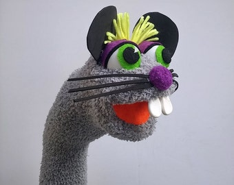 Mouse Sock Puppet Hand Puppet