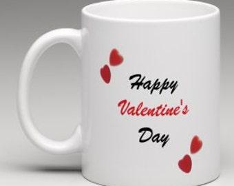 valentines day mug personalised heart mug girlfriend gift gift for boyfriend happy - Valentines Day Mugs