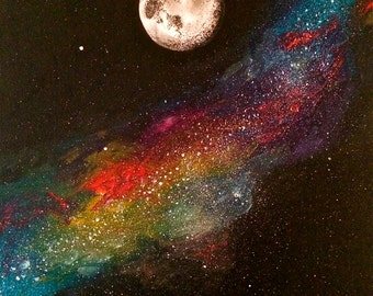 The Moon and The Milky way