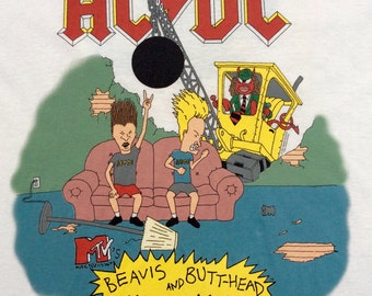 1996 A.C.D.C Worldtour BEAVIS and BUTT-HEAD Official Licensed Vintage Shirt