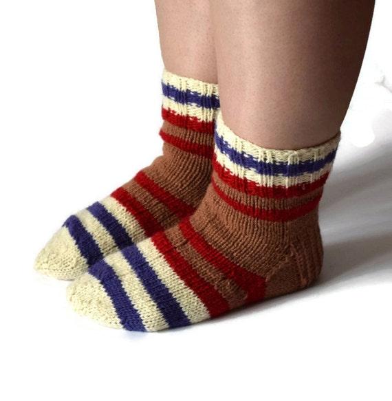 striped knitted wool socks sleeping socks warm winter socks. Black Bedroom Furniture Sets. Home Design Ideas