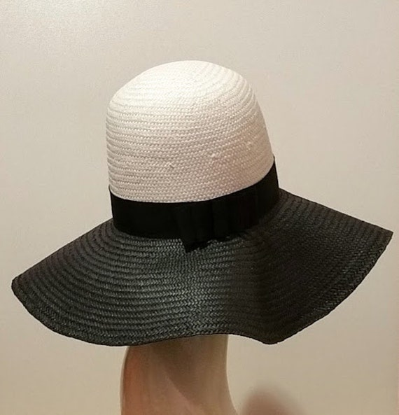s straw hat wide brim hat hat black and by becvoy