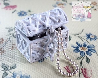 Dollhouse Miniature shabby chic jewels 1:12 scale box handmade