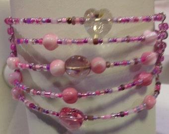 Pink Cuff Bracelet