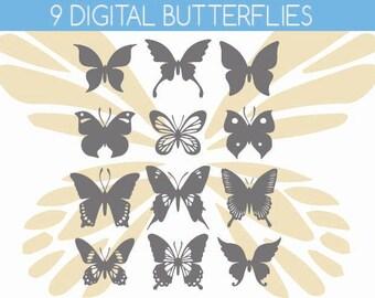 butterfly clipart, butterfly clip art, butterflies clipart, butterflies clip art, butterfly art, butterfly silhouette, butterfly silhouettes