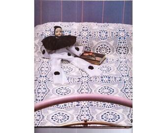 Genuine Vintage Gorgeous Victorian style Lacy Bedspread Motif Crochet Pattern PDF