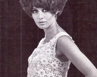 Genuine Vintage 1950s Ladies Ultra-Pretty IRISH LACE Crochet Blouse pattern PDF