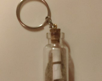Message in a Bottle Keychain/Necklace