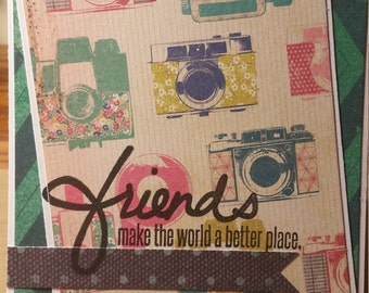 Friends Make The World A Better Place Greeting Card Set of 6