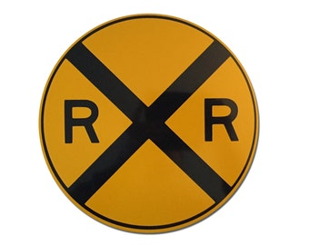 Reflective Railroad Crossing Sign 10""