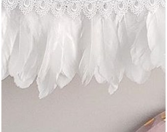 Feather and lace garlands