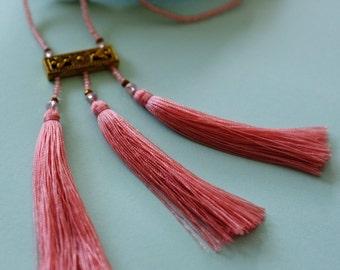 Sayang Silk Tassel Necklace