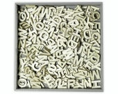 250 Small Wooden ALPHABET LETTERS (Upper Case) Embellishments by cArt-Us (set 99)