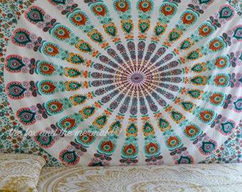Mandala tapestry blanket, tapestry sheet, boho beach throw,  boho beach blanket, picnic blanket, yoga mat, wall tapestry, mandala sheet