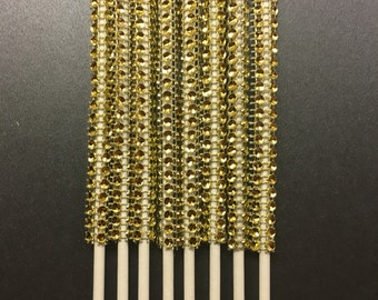 Cake pop sticks, Bling Sticks, Dessert table, Cake pops, Gold lollipop sticks, 15ct