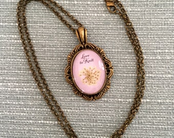 Love to Knit Pendant