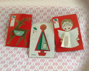 Vintage Honeycomb/Accordion Fold Out Christmas Gift Tags