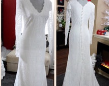 Long Sleeves Wedding Dress / Beach Wedding Dress / Hippie Wedding Dress / Bohemian Bridal Gown / Winter Wedding Dress / Boho Wedding Dress