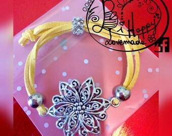 Yellow floral bracelet