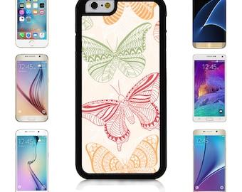 Cover Case for Apple iPhone 7 7 Plus 6 6S Plus Samsung Galaxy S7 Edge S6 Plus Note 5 6 7 8 9 10 att sprint verizon Ornamental Butterfly