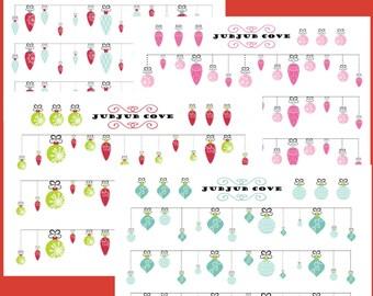 Large Bando - Christmas Ornament Banners - Christmas Banners
