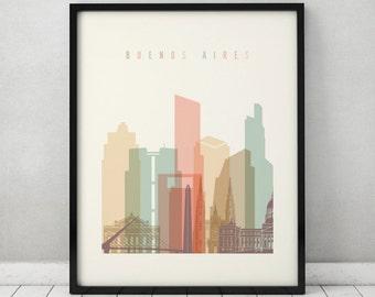 Buenos Aires art print, Poster, Travel, cityscape, Wall art, Argentina skyline, City print, Home Decor, Gift, Wall prints, ArtPrintsVicky