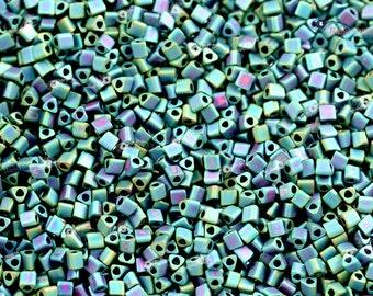 TOHO 11/0 Triangle Beads - Matte Color Iris Teal [TG-11-706]
