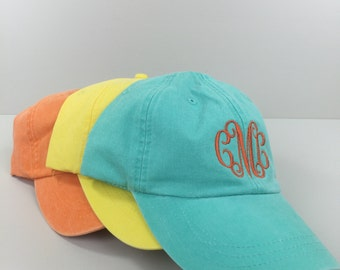 Monogrammed Baseball Unstructured Hat - Monogram Included