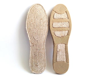 "Wear the authentic Spanish-made espadrille soles, the Mediterranean and eco-friendly jute rope flats. 42 EU (27 cm / 10.63"")"