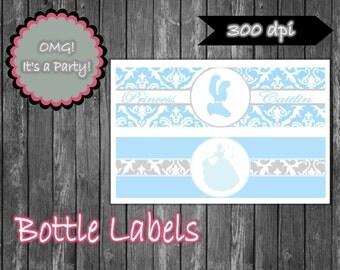 Cinderella Water Bottle Lables, Cinderella Bottle Lables, Cinderella Party Printables