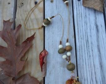 Tree of Life Autumn Leaf Pendant