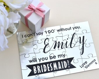 Will you be my Bridesmaid / Maid of Honour Jigsaw