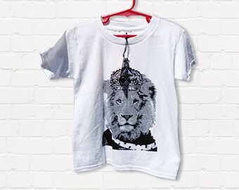 Hand screen printed 'King Leo' Toddler T-shirt