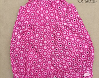 Pink Floral Rompers for Baby Girls - 100% Cotton