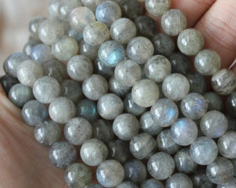 Labradorite 8mm Round Gemstone AA Quality Natural Gemstone Yoga Jewelry Supply Mala Beads