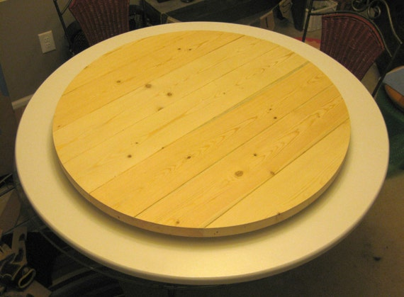 Farmhouse Style Wood Lazy Susan Turntable Any By Woodlazysusan