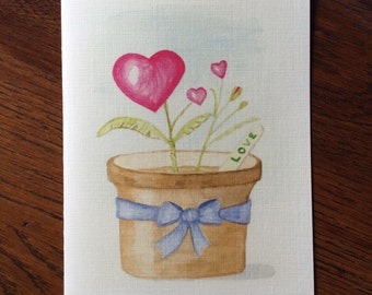 Love Grows greeting card