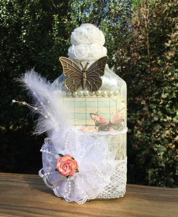 Victorian Chic Ladies Decorated Bottle