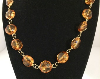 Amber Delight- wire necklace