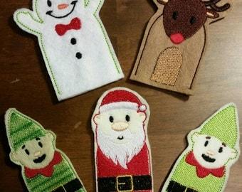 Santa and Friends Set of 5
